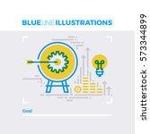 blue line illustration concept... | Shutterstock .eps vector #573344899