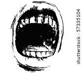 scream - stock vector