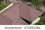 roof tiles and made from... | Shutterstock . vector #573352381