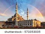 istanbul   new mosque  yeni...   Shutterstock . vector #573353035