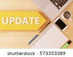 update   linear text arrow... | Shutterstock . vector #573353389