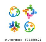 social relationship  co worker... | Shutterstock .eps vector #573355621