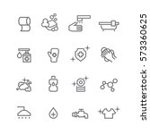 hygiene icons set vector | Shutterstock .eps vector #573360625
