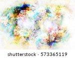 abstract multicolor flower... | Shutterstock . vector #573365119