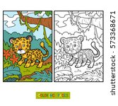 coloring book for children ... | Shutterstock .eps vector #573368671