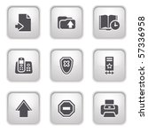 gray button for internet 4 | Shutterstock .eps vector #57336958