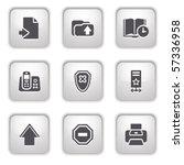 gray button for internet 4 | Shutterstock .eps vector #57336958