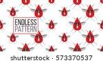zika virus malaria alert. hand... | Shutterstock .eps vector #573370537