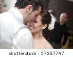 bride and groom dancing on... | Shutterstock . vector #57337747