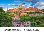 scenery of siena  a beautiful... | Shutterstock . vector #573385609