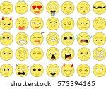 set of emoticons. vector   Shutterstock .eps vector #573394165