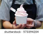 frozen yogurt ice cream | Shutterstock . vector #573394204