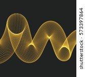 helix. molecular lattice. 3d... | Shutterstock .eps vector #573397864