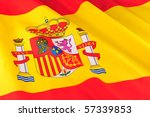 Closeup of Spain National Flag - stock photo