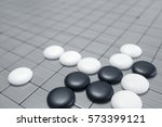 go game or weiqi  chinese board ... | Shutterstock . vector #573399121