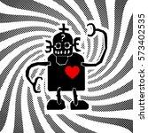 vector illustration of a robot... | Shutterstock .eps vector #573402535