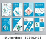 flyers for health and medical... | Shutterstock .eps vector #573403435