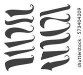 set of 12 black swoops  swishes ... | Shutterstock .eps vector #573404209