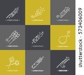 vector pyrotechnic logo icons.... | Shutterstock .eps vector #573406009