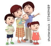 3d illustration  young happy... | Shutterstock . vector #573409489