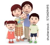 3d illustration  young happy... | Shutterstock . vector #573409495