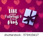 valentine s card design  hand...   Shutterstock .eps vector #573410617