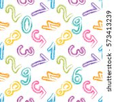 seamless pattern with the... | Shutterstock .eps vector #573413239
