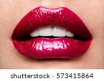 sexy lips. beauty red lips... | Shutterstock . vector #573415864