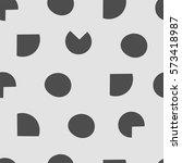 seamless pattern  geometric art ... | Shutterstock .eps vector #573418987