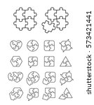puzzle icons set   complete and ... | Shutterstock .eps vector #573421441