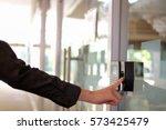 track employee hours using... | Shutterstock . vector #573425479