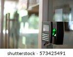 biometric fingerprint scanner. | Shutterstock . vector #573425491
