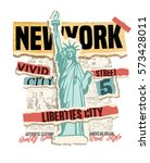 New York City Clip Art. Vintag...