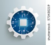 infographic with gear wheel and ... | Shutterstock .eps vector #573430219