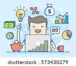 investor. smart investment.... | Shutterstock .eps vector #573430279