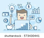 investor. smart investment.... | Shutterstock .eps vector #573430441