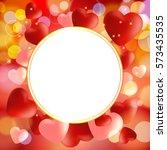 valentine. valentines day... | Shutterstock .eps vector #573435535