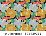 illustration with many brown... | Shutterstock . vector #573439381