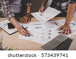 close up of business people... | Shutterstock . vector #573439741