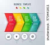business infographics template... | Shutterstock .eps vector #573441811