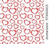 blots hearts. seamless texture. ... | Shutterstock .eps vector #573442615