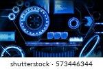 hud interface | Shutterstock . vector #573446344
