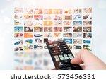 multimedia video wall... | Shutterstock . vector #573456331
