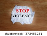 Stop Violence Concept With...