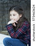 Small photo of The girl reflecting headlong