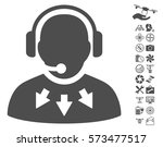 operator message pictograph... | Shutterstock .eps vector #573477517