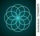 sacred geometry. symbol of... | Shutterstock .eps vector #573483475