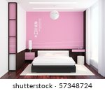modern bedroom scene | Shutterstock . vector #57348724