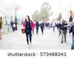 street urban blurred background | Shutterstock . vector #573488341