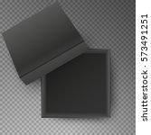black open empty squares... | Shutterstock .eps vector #573491251